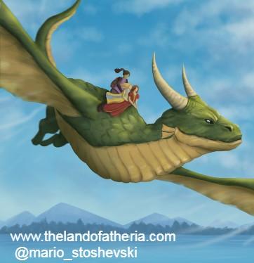 O'Lah, Luca & Lynnea riding the dragon, Scorch